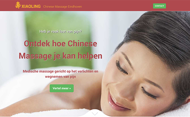 Afbeelding website Xiaoling Chinese Massage